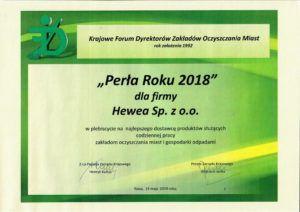 """""""Perła Roku 2018"""" dla PRESKO"""